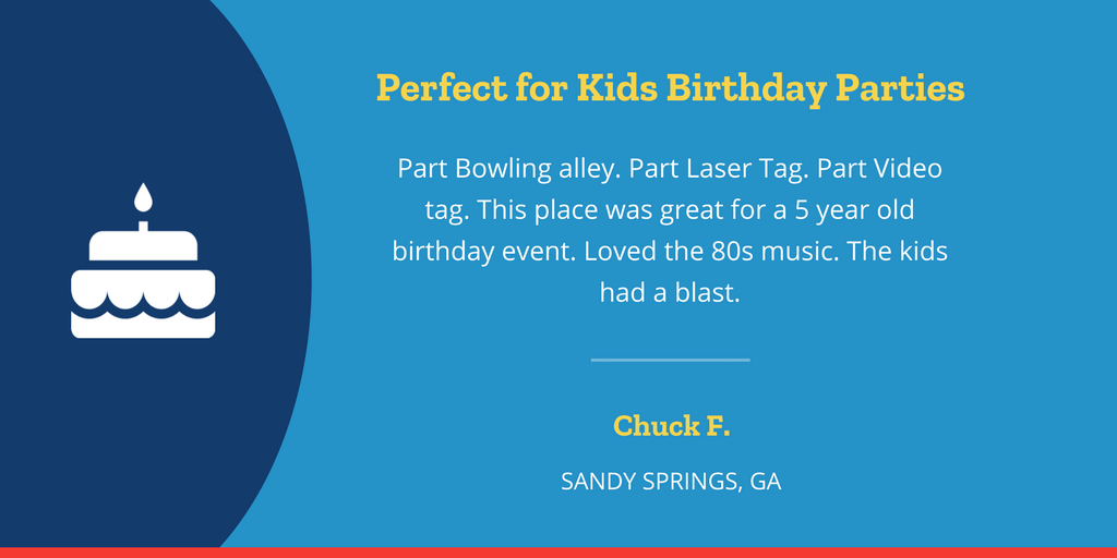 Perfect for Kids Birthday Parties Testimonial