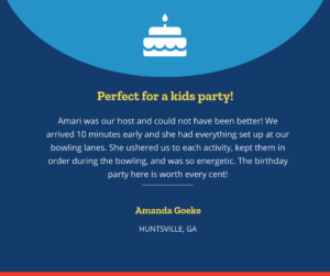 Huntsville Kids Birthday Party Review