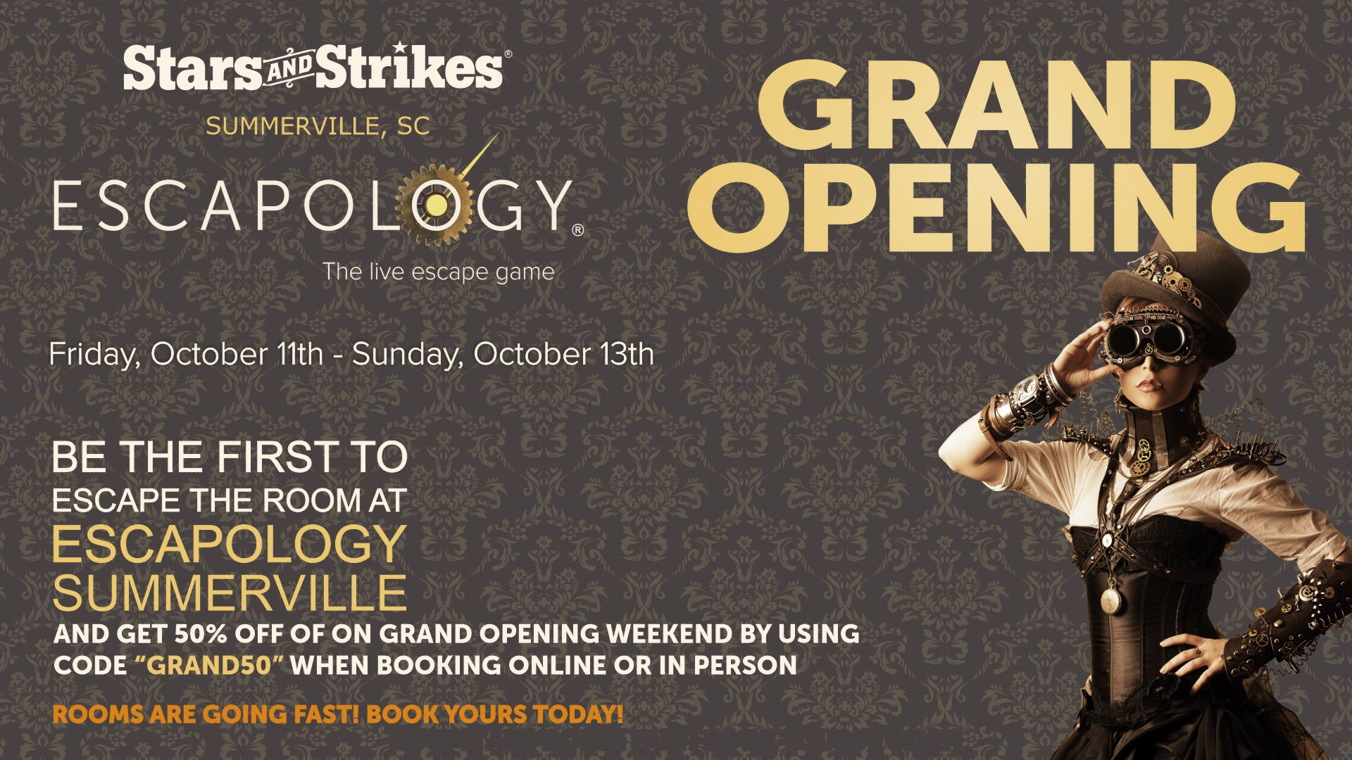Escapology Escape Rooms Grand Opening In Summerville
