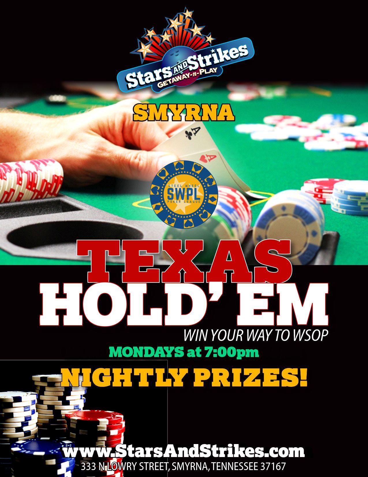 Monday Night Poker In Smyrna Stars And Strikes