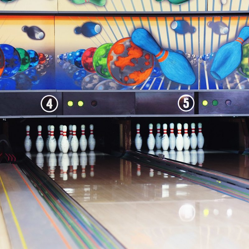 Bowling Lane at bowling alley party Huntsville al