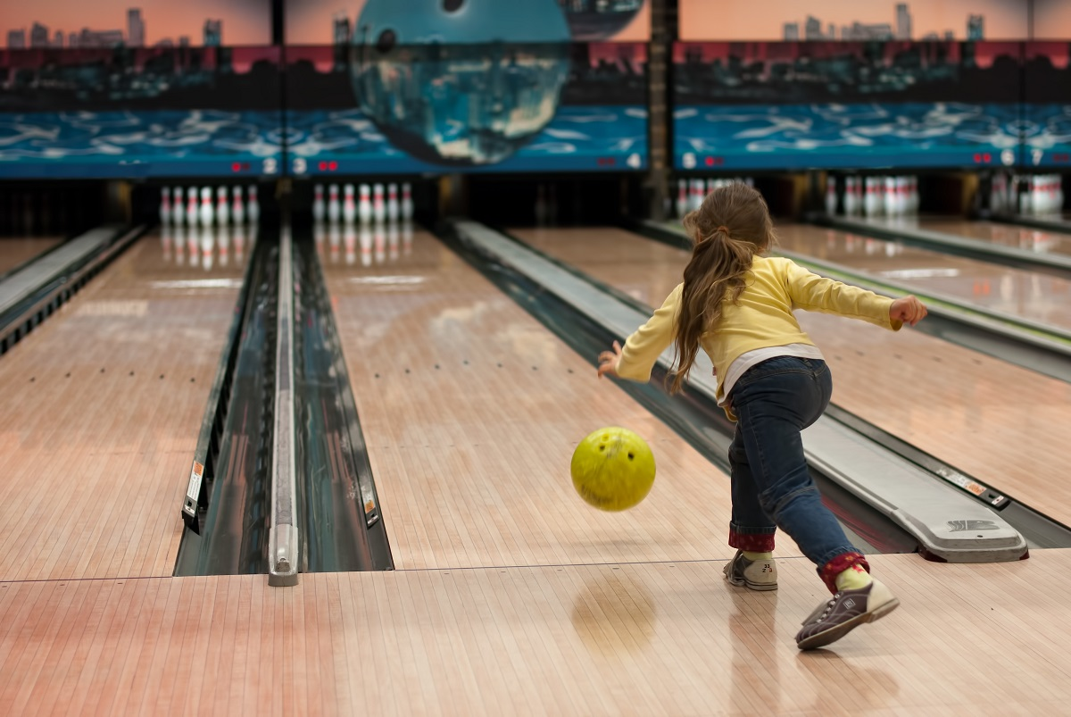 Kid Bowling at the best kids' birthday party in Lawrenceville ga