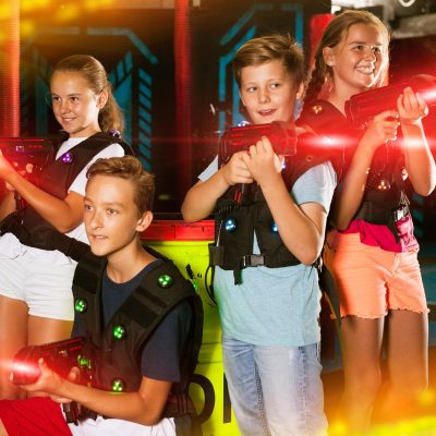 Kids Playing Laser Tag