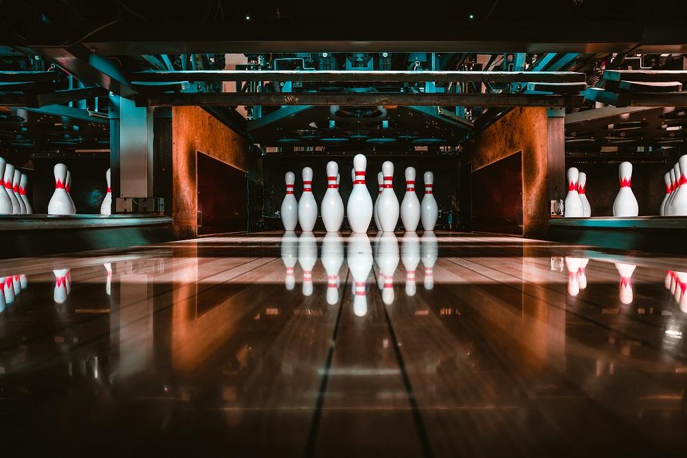 Bowling Pins in Lane