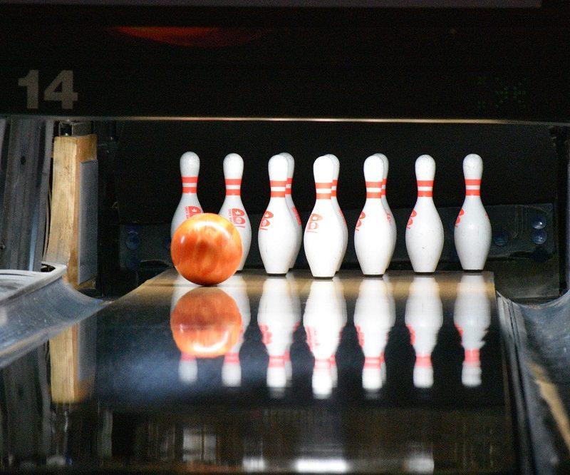 Bowling Ball Going Down Lane cumming ga