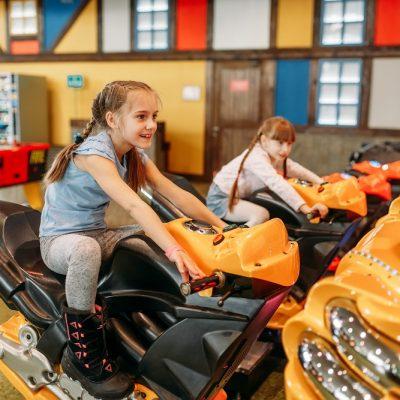 Girls at arcade